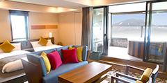 含『面向淺間山景的露天溫泉』的四床套房(3種房型):7、8樓