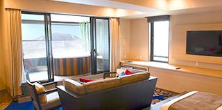 含『面向淺間山景的露天溫泉』的雙床客房