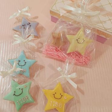 星のお菓子 アイシングクッキーとフィナンシェ